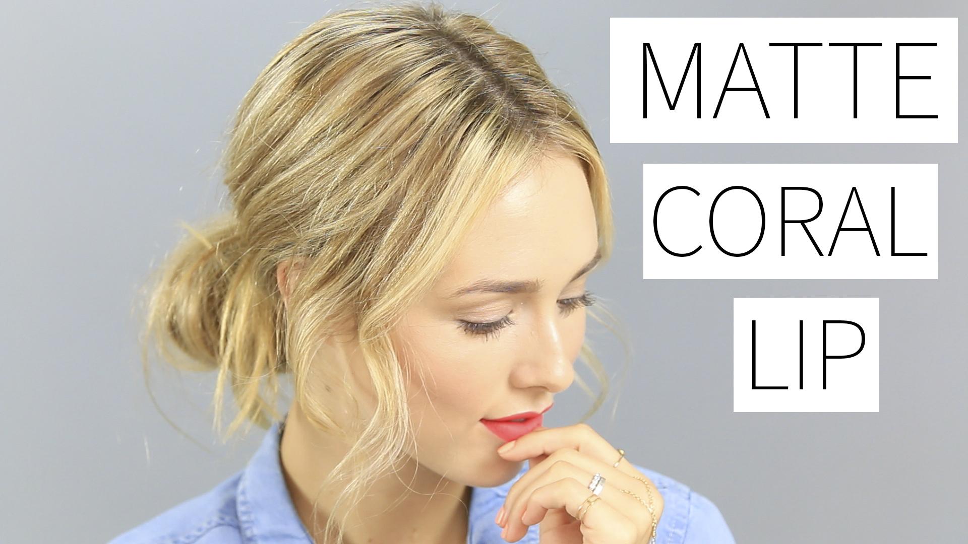 Matte Coral Lip Colourpop