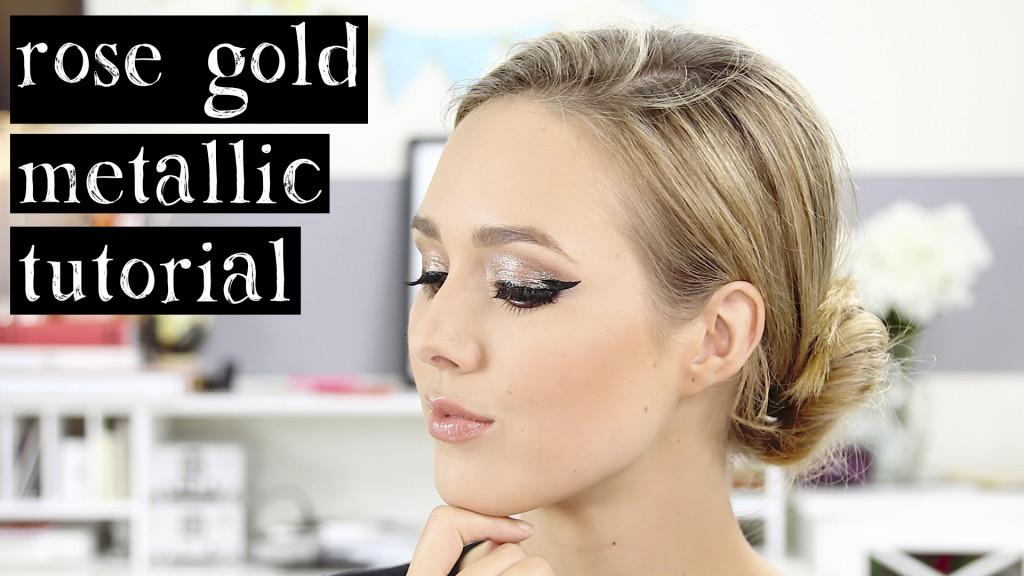 Rose Gold Metallic Eye Makeup Tutorial Sheridan Gregory