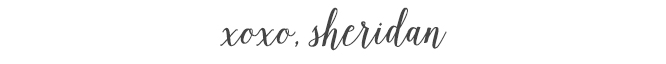 xoxo, Sheridan
