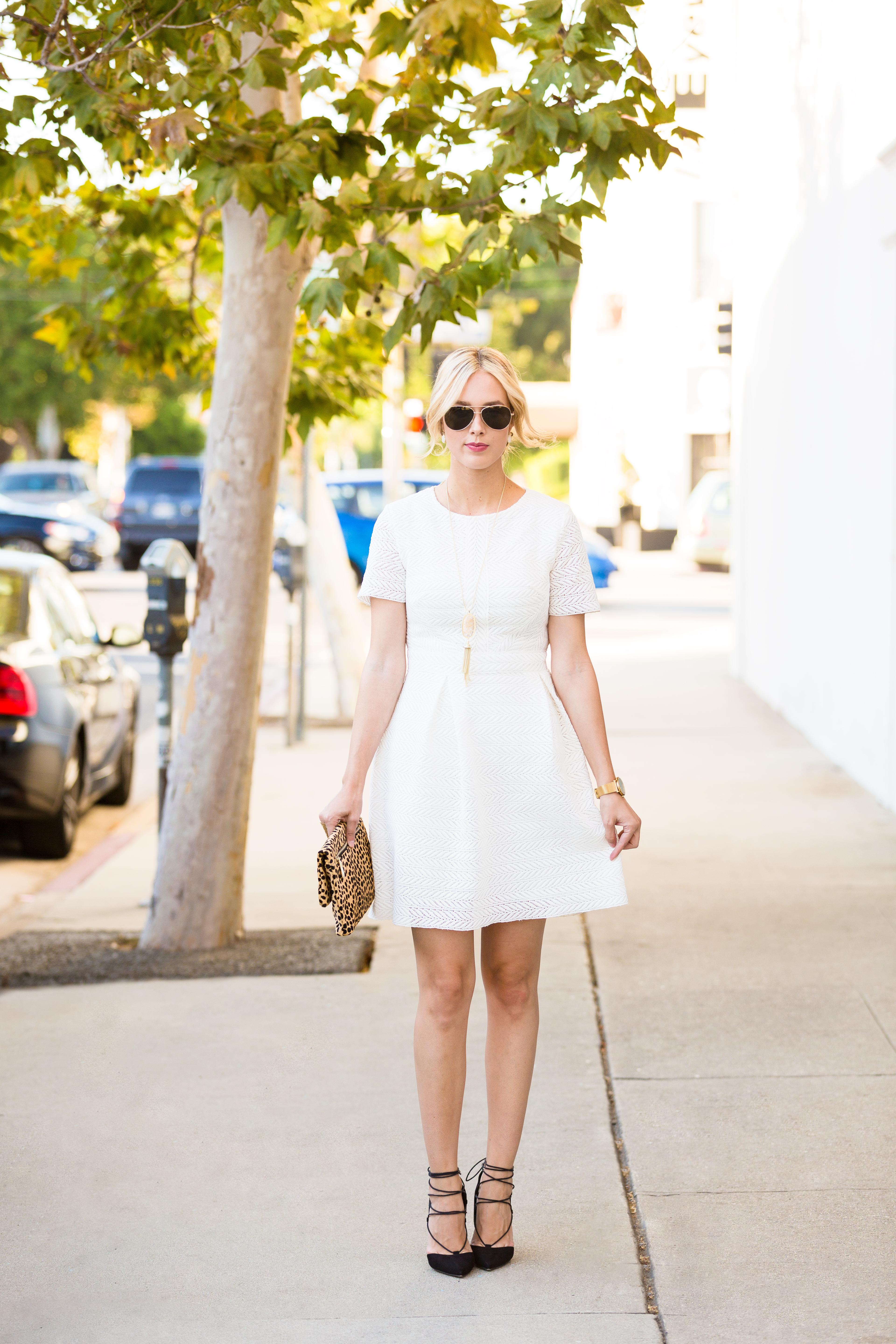 White Fit N Flare Dress