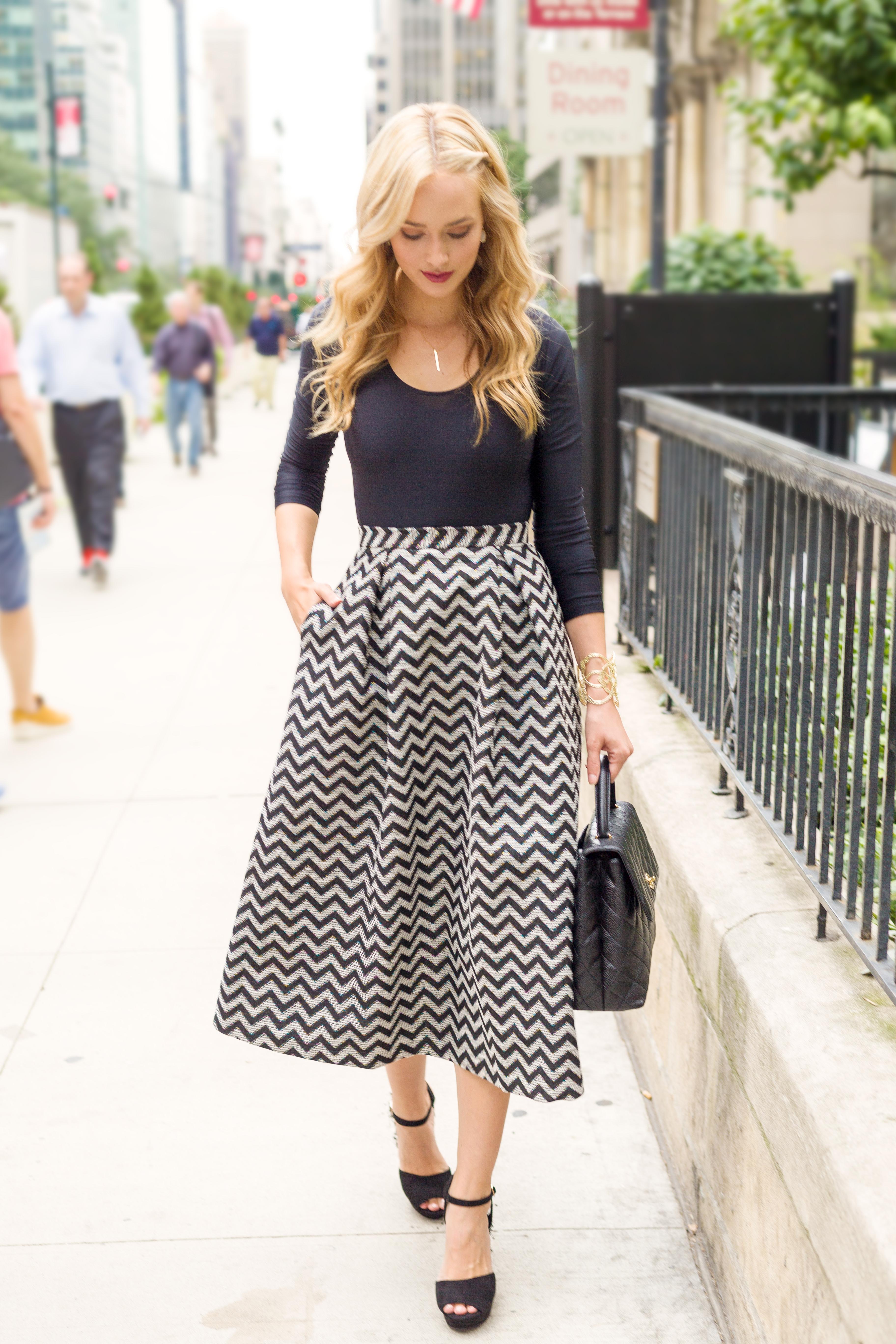 ASOS Chevron Skirt