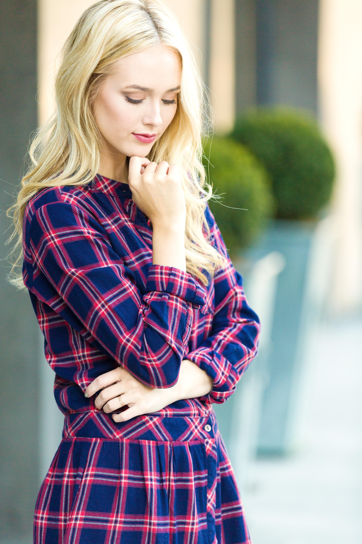 Neiman Marcus Plaid Dress