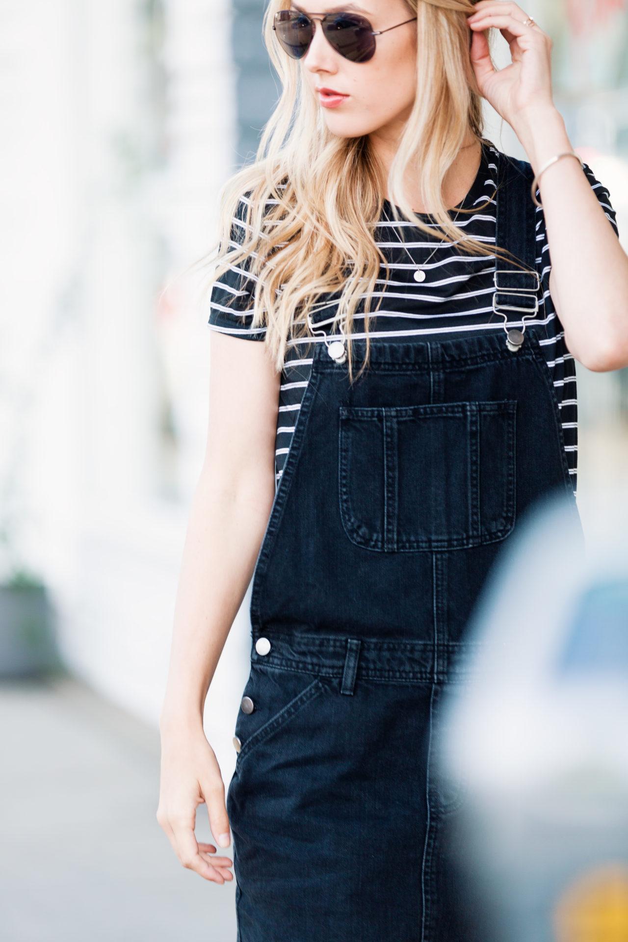 Black Overalls Skirt