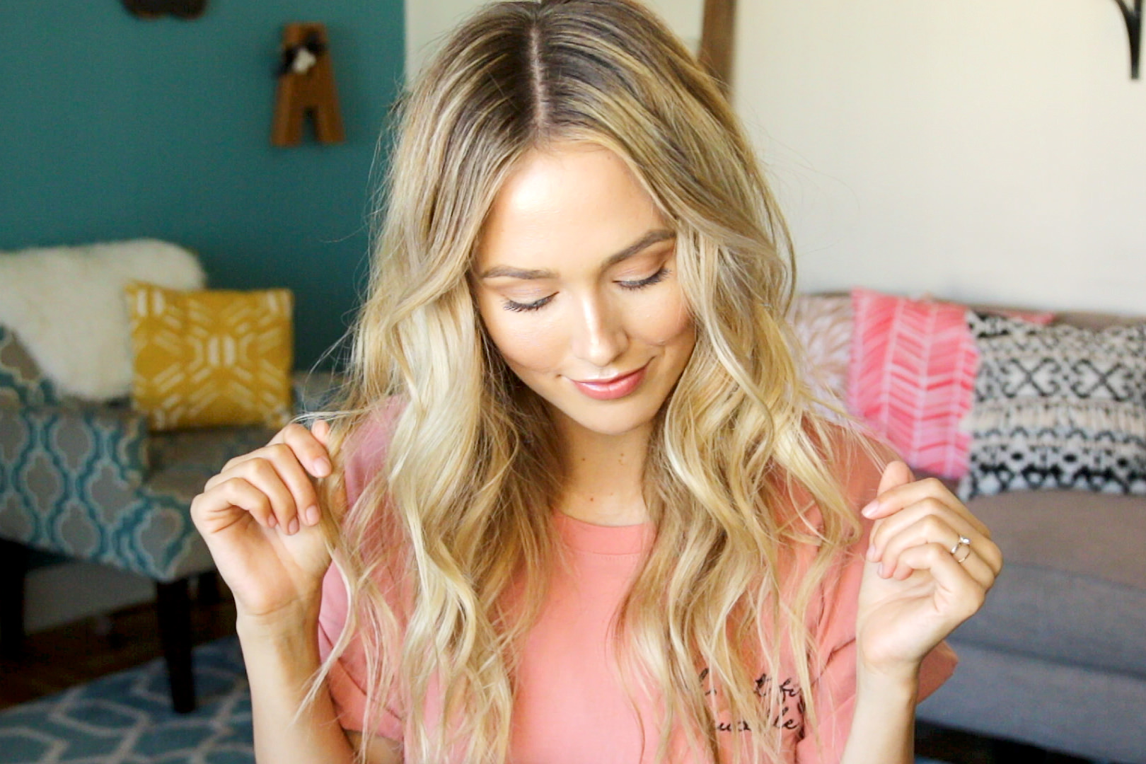 hair tutorial messy waves the glamourai messy beach waves
